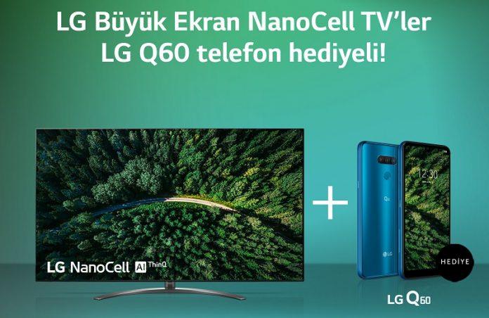 LG NanoCell TV'ler LG Q60 Telefon Hediyeli