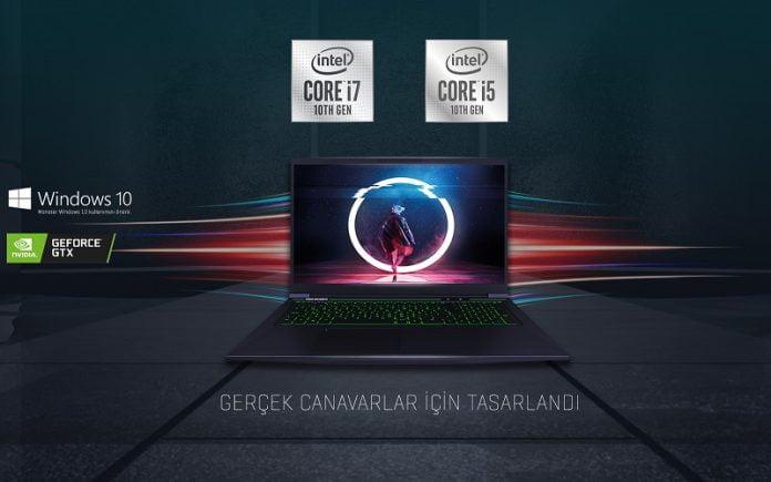 Intel 10. Nesil İşlemcili Monster Notebook'lar Bugün Satışa Çıkıyor